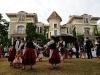 Danse basque dans le parc